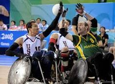 USA v Australia: Wheelchair rugby or 'murderball' at the Beijing Paralympics in 2008. #joyofsport