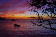 Sunset at Cinnamon Bay, St. John, USVI
