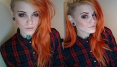 Most popular tags for this image include: hair, tattoo, myhertsgard, color and orange hair