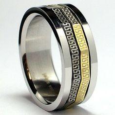 Tricolor Greek Key Laser Design Stainless Steel Spinner Ring Sizes 8 to 13 Bonndorf, http://www.amazon.com/dp/B002Z045YK/ref=cm_sw_r_pi_dp_Vi8yqb087FTS4
