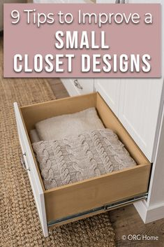 Are you wanting to improve the storage space you have in your small cramped closet. These 9 ideas might just do the trick! Closet Rod, Closet Storage, Closet Organization, Storage Shelves, Storage Ideas, Storage Spaces, Shelving, Reach In Closet, Closet Space