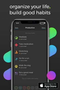 Productive is a free and easy-to-use tool that helps you build a routine of positive, life changing habits. Set personal goals, track your progress, and motivate yourself to achieve new heights! Study Skills, Study Tips, Good Habits, Healthy Habits, Health And Wellness, Health Fitness, School Organization, Organizing, Me Time
