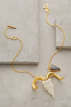 Lace Ram Necklace-anthropologie