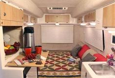 Travel Trailer Interiors | Casita Liberty small travel trailer interior 3