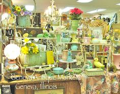 Geneva Antique Market in the Berry House on Third Street, Geneva Illinois is a true treasure!