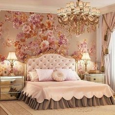 Rose Gold Bedroom: 25 Glamor Ideas That Will Mesmerize You. Rose Gold Bedroom: 25 Glamor Ideas That Will Mesmerize You Fancy Bedroom, Gold Bedroom, Bedroom Sets, Kids Bedroom, Bedroom Decor, Bedding Sets, White Bedroom, Master Bedroom, Dream Rooms