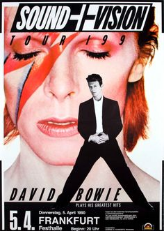 David Bowie Concert Poster https://www.facebook.com/FromTheWaybackMachine/