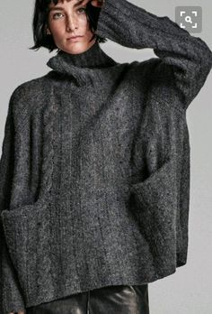 Oversized charcoal sweater