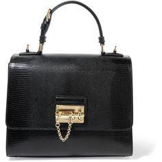 Dolce & Gabbana Monica medium lizard-effect leather tote (36.746.600 IDR) ❤…