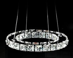 promotion 40cm Raimond Ring Crystal Chandelier lighting Deluxe Led Round 1 Layer Crystal Pendant Lamp for home Free shipping bedroom décor