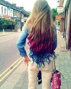 dip dye hair. I WANT HER HAIR