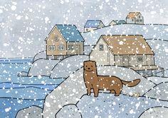 Mink, Cute Animal Art Print by studiot uesday