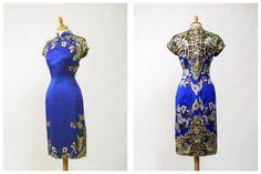 Vintage blau floral und tierischen drucken von Cavallienastri