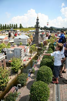 Madurodam is a miniature park in The Hague. Places To Travel, Places To See, The Hague Netherlands, Countries Europe, Model Village, Travel Goals, Rotterdam, The Good Place, Beautiful Places
