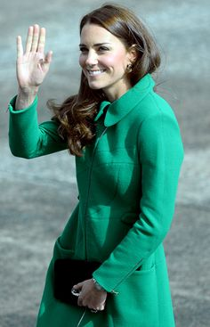 kate in green | SHOP THIS LOOK: Kate Middleton, the Duchess of Cambridge, wore a green ...