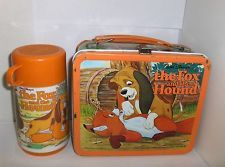 1981 The Fox and the Hound Metal Lunch Box with Thermos - this was my old lunch box!