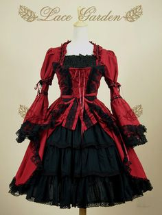 Black and Red Gothic Lolita Dress by DEVILNIGHTUK.deviantart.com on @deviantART