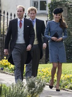 The Duke and Duchess of Cambridge and Prince Harry attend the wedding of close friends, Lucy Meade and Charlie Budgett at St Mary's Church, ...