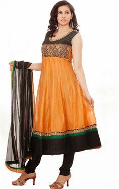 Picture of Divine Orange Color Ready Made Salwar Kameez