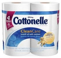 Cottonelle Clean Care Toilet Paper is strong and absorbent with soft ripples to provide extra comfort. .54 per roll from 'amazon.