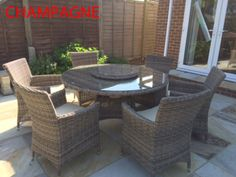 rattan table with lazy susan