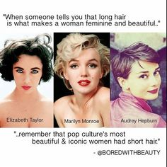 Pop culture's most iconic and beautiful women had short hair