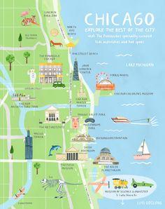Chicago illustration. Australian Traveller - Livi Gosling Illustration