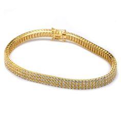 Βραχιόλι ριβιέρα ζιργκόν  χρυσό Κ14  8403 Jewels, Bracelets, Gold, Jewerly, Bracelet, Gemstones, Fine Jewelry, Gem, Arm Bracelets