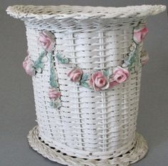 Omg Old Barbola Gesso Lampshade Garlands Swags Bows