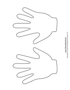 graphic regarding Printable Handprint Template named printable hand template -