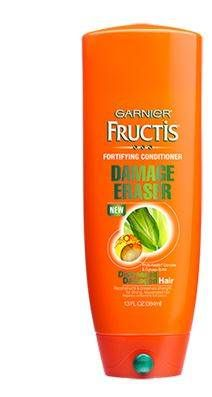"20 drugstore conditioners celebrity hairstylists are obsessed with including Garnier Fructis Damage Eraser Conditioner: ""This is my favorite conditioner because it reconstructs and preserves hair strength, creating stronger, rejuvenated strands. It also helps protect against future damage,"" says Edward Tricomi, whose celebrity clients include Scarlett Johansson, Jessica Alba and Kate Beckinsale. ""It gives you everything you'd want out of a conditioner and doesn't break the bank."""