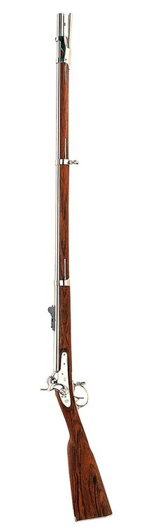 """1842 U.S. Percussion Rifled Musket .69, 42"""" White Finish - 42 Inche Barrel - .69 Caliber - Capacity 1 - 10.58 lbs - Heat Treated White Finish - Walnut Stock - By: Chiappa (Italy) - Military-Style Sights - LoA 58"""" -- This Musket will soon be listed on our website. Until then, please email: luke@huntinganddefense.com -- URL 126"""