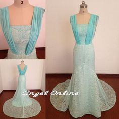 Lace Evening Dress.Long Formal Dresses.Blue Evening Dress.Elegant Evening Dresses.Plus Size Evening Dresses.Party Prom Dress.Formal Dresses