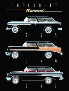 Shop for chevy art from the world's greatest living artists. All chevy artwork ships within 48 hours and includes a money-back guarantee. Choose your favorite chevy designs and purchase them as wall art, home decor, phone cases, tote bags, and more! Chevrolet Nomad, Chevy Nomad, Chevrolet Bel Air, Luxury Sports Cars, Sport Cars, Lamborghini, Ferrari, Automobile, Vw Vintage