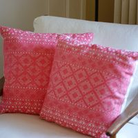Finished Chiapas Pillow Covers, ethnic pillow, Mexican textile
