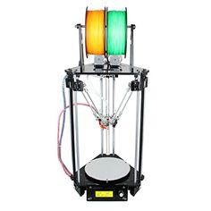 WER Delta Rostock mini G2s pro DIY-Kit 3D-Drucker, 3D Printer mit automatischer Nivellierung Doppelextruder, Autokalibrierung, unterst�tzt mehrere Art und Weise des Druckens