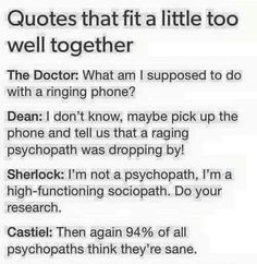 Doctor Who + Supernatural + Sherlock = SuperWhoLock! Johnlock, Destiel, Hunger Games, Les Cheetah Girls, Nos4a2, Pokerface, John Barrowman, Fandom Crossover, Supernatural Fandom