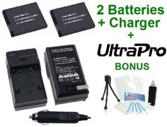 2-Pack Canon NB-11L High-Capacity Replacement Batteries with Rapid Travel Charger for Canon PowerShot A2300 IS, A2400 IS, A3400 IS, A4000 IS, ELPH 110HS, ELPH 320HS Digital Cameras - UltraPro BONUS INCLUDED: Camera Cleaning Kit, Camera Screen Protector, Mini Travel Tripod by Ultra Pro. $23.95. Save 66% Off!