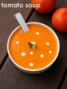tomato soup recipe cream of tomato soup tomatoe soup recipe is part of Tomato soup recipes tomato soup recipe, cream of tomato soup, tomatoe soup recipe with detailed photo and video recipe an - Veg Soup Recipes, Creamy Soup Recipes, Spicy Recipes, Curry Recipes, Indian Food Recipes, Cooking Recipes, Cream Of Tomato Soup, Tomato Soup Recipe Indian, Chaat Recipe