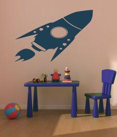 Housewares Vinyl Decal Rocket Space Shuttle Home Wall Art Decor Removable Stylish Sticker Mural Unique Design for Baby Boy Nursery Room Decal House http://www.amazon.com/dp/B00EV1P1TY/ref=cm_sw_r_pi_dp_BAOUtb1S6VF8CQ8G