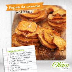 """PAPAS DE CAMOTE AL HORNO""  #Saludable #Oleico #Natural"
