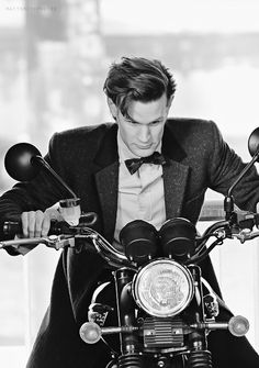 "I swear I can hear him making vroom vroom noises... behind the scenes ""The Bells of St John""  