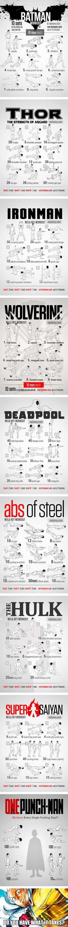 The Ultimate Superhero Workout Challenge, Do You Dare To Take It? Choose Wisely.