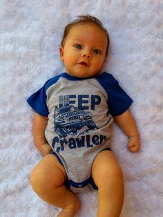 Jeep Crawler Baby Baseball Bodysuit