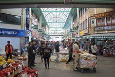 Cheongju, South Korea - March 26, 2017: 'Yukkeori Market', a traditional market