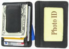 c9e9b73a14dc 910EB Fine Leather Hand Crafted Mans Man s Mens Men s Mini Wallet ID Credit  Card Holder with