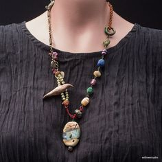 Bird of Day and Night - a necklace