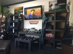 Men's Diesel Clothing and Accessories, Big Star Clothing, Jeremiah Clothing, Olukai Shoes and Sandals, and Sketchers shoes.