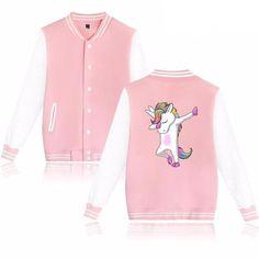 Dabbing Unicorn Varsity Jacket