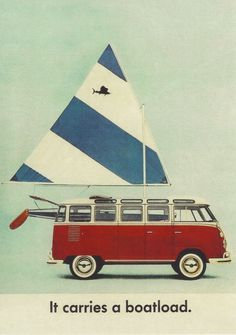 Wow. We had a Sunfish sailboat in this color scheme, and a bus in this scheme, but we never combined them like this.